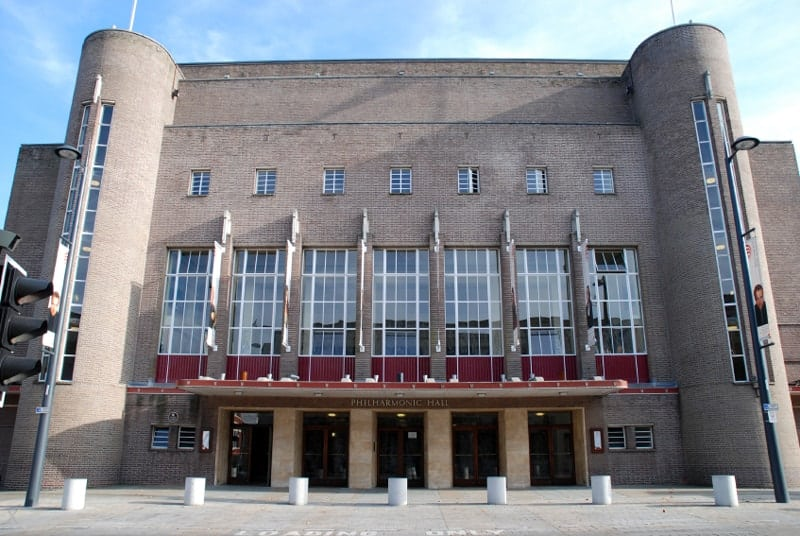 Exterior view of the Liverpool Philharmonic concert hall