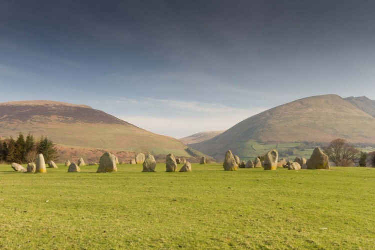 View of Castlerigg Stone Circle and surrounding fells