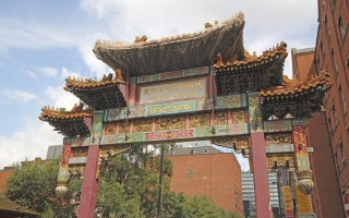 Chinese Arch, Chinatown, Manchester