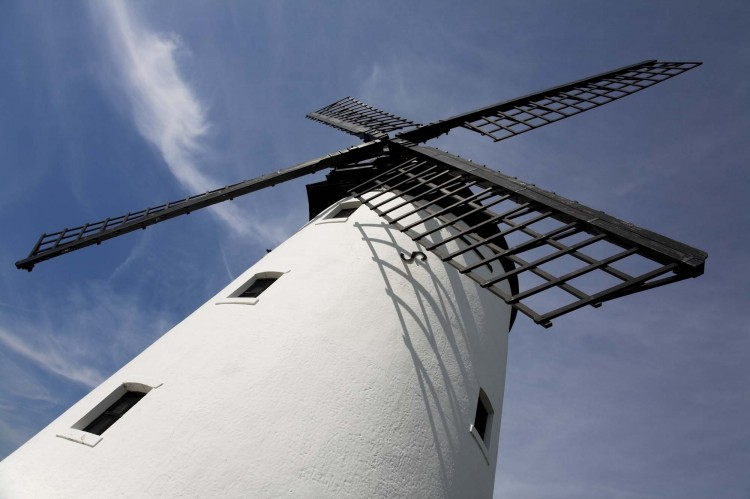 View of the Lytham Windmill in Lytham St Annes, Lancashire