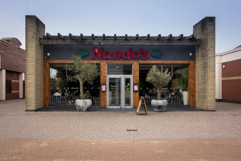 Nando's restaurant at Ashton Leisure Park