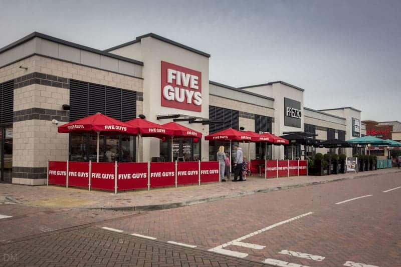 Five Guys, Prezzo, and Bella Italia at Ashton Leisure Park