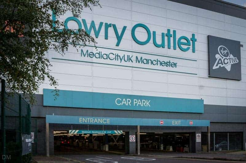 Car park at the Lowry Outlet Mall at Salford Quays