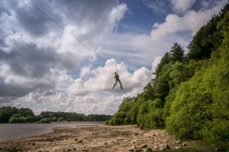 Go Ape and Lower Rivington Reservoir