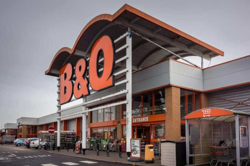 B&Q DIY store at Snipe Retail Park in Ashton-under-Lyne.