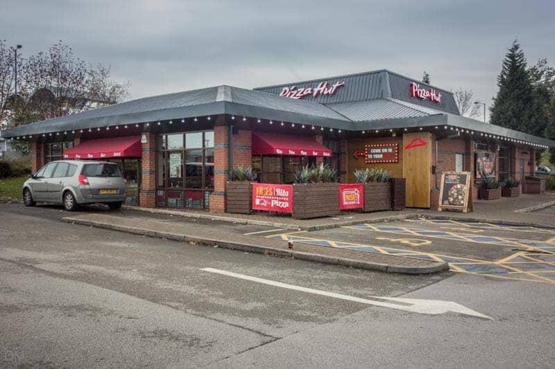Pizza Hut restaurant at Snipe Retail Park.