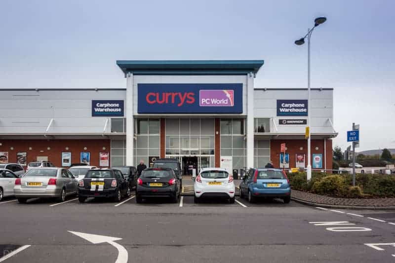 Currys PC World store at Snipe Retail Park.