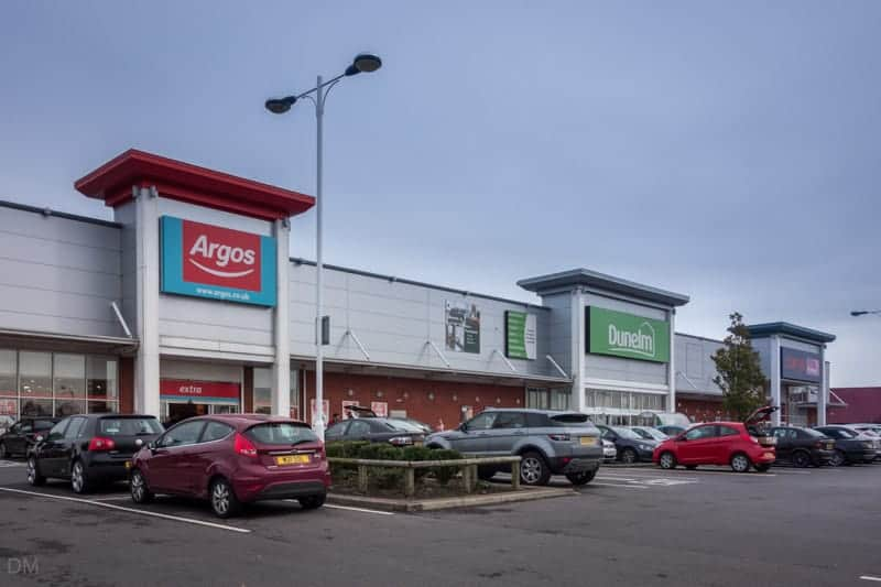 Argos and Dunelm stores at Snipe Retail Park.