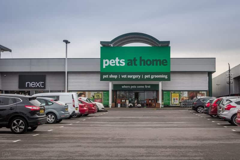 Pets at Home and Next at Snipe Retail Park in Ashton-under-Lyne.