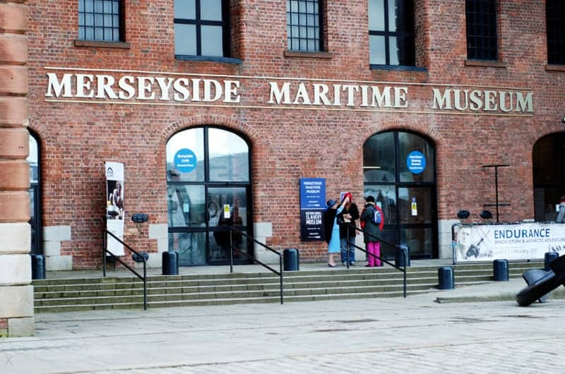 Entrance to the Merseyside Maritime Museum at Albert Dock in Liverpool