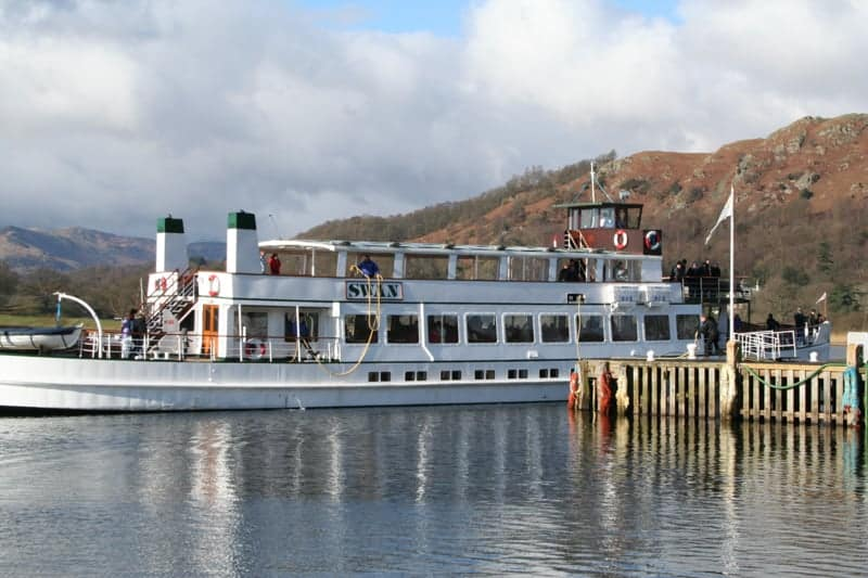 Windermere Lake Cruises boat on Windermere in the Lake District, England