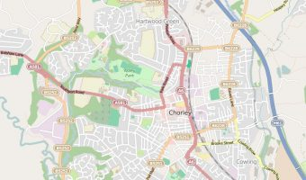 Map of Chorley, Lancashire