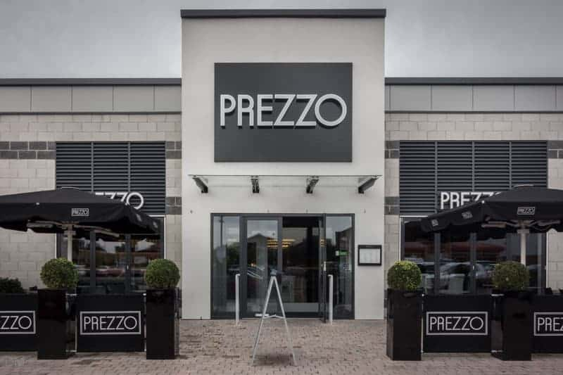 Prezzo restaurant, Ashton Leisure Park