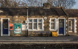 Station building and waiting room at Bromley Cross Train Station, Bolton