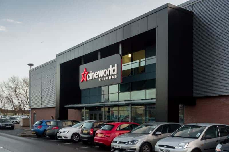 Cineworld Cinema at the Loom in Leigh, near Wigan.