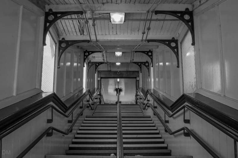 Stairway from station building to platform at Daisy Hill Train Station