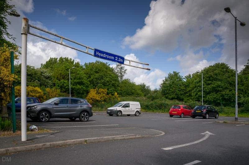 Car park at Daisy Hill Train Station, Weshoughton, Bolton