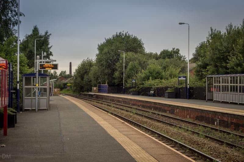 Platforms and Shelters at Darwen Train Station
