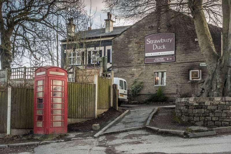 Strawbury Duck pub in Edgworth, near Bolton and Blackburn