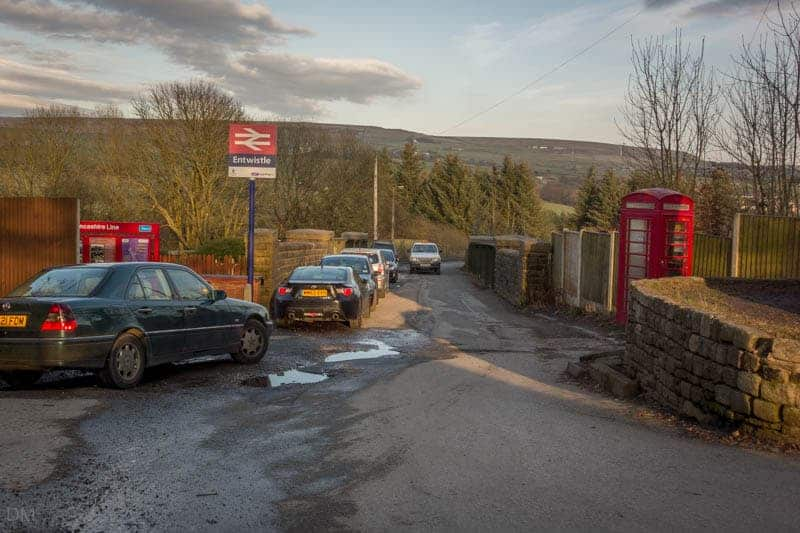 Parking at Entwistle Train Station