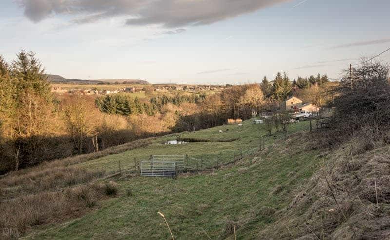 View from Entwistle Hall Lane, Edgworth, near Blackburn and Bolton