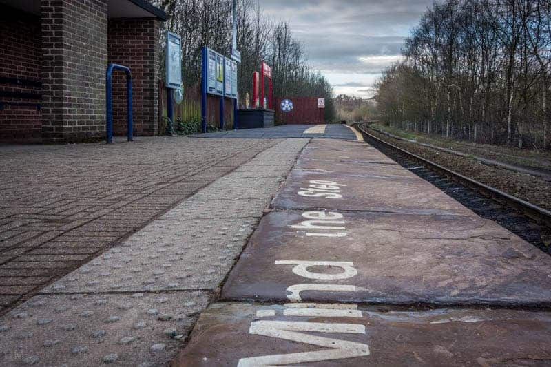 Platform at Entwistle Train Station in Bolton, Blackburn