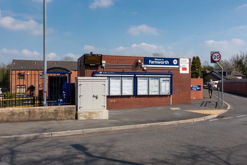 Ticket office at Farnworth Train Station, Bolton