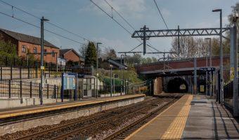Platforms at Farnworth Train Station, Bolton