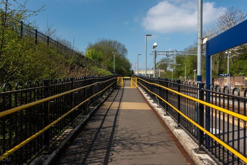 Ramp to platform at Farnworth Train Station