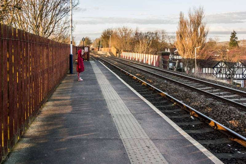 Platforms at Hall i' th' Wood Train Station in Bolton
