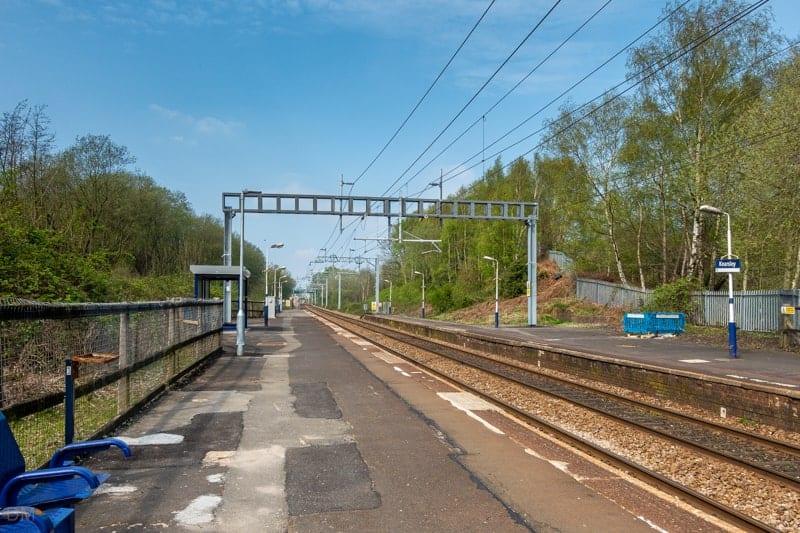 Platform at Kearsley Train Station