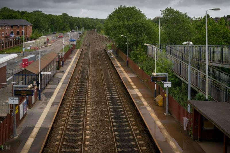 Platforms at Lostock Train Station viewed from Lostock Junction Lane