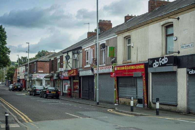 Shops on New Chapel Street, Mill Hill, Blackburn