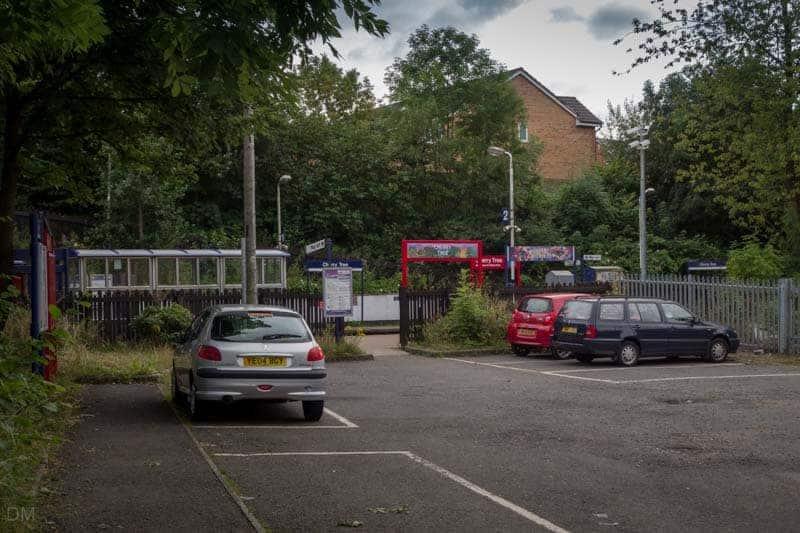 Car park at Cherry Tree Train Station, Blackburn