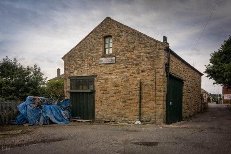 Former goods shed now Abbey Mill Fireplaces and Stoves, Blackburn
