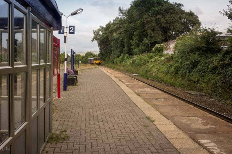 Platform at Mill Hill Train Station, Blackburn