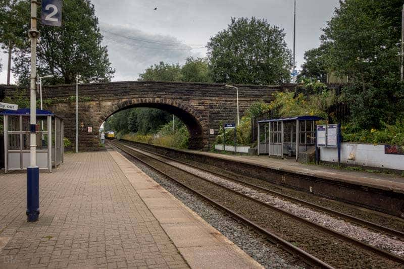 Platforms and shelters at Cherry Tree Train Station, Blackburn