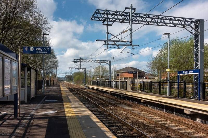 Platforms at Moses Gate Train Station, Farnworth, Bolton