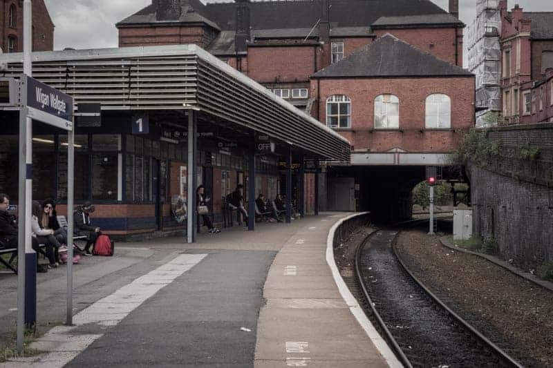 Platform One at Wigan Wallgate Train Station.