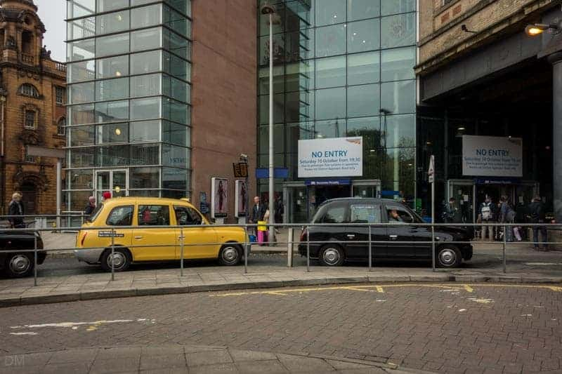 Fairfield Street Entrance and Taxi Rank at Manchester Piccadilly Train Station