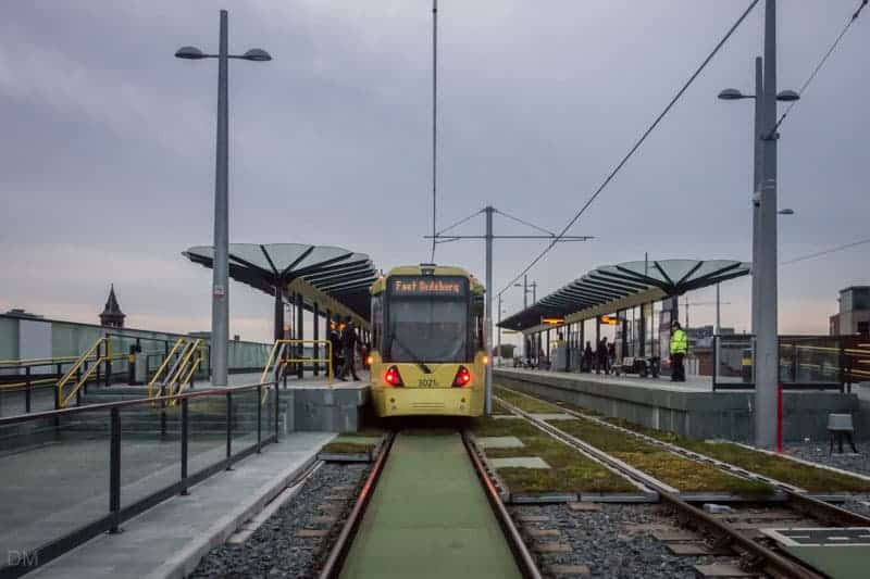 Deansgate-Castlefield Metrolink Station, Manchester - Tram to Didsbury