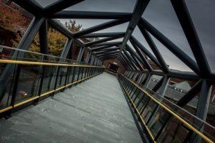 Footbridge to Deansgate-Castlefield Metrolink Station, Manchester