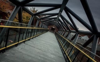 Footbridge to Deansgate-Castlefield Metrolink Station, Manchester