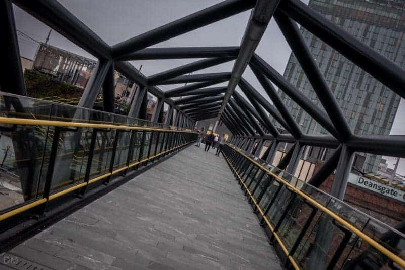 Footbridge to Deansgate Train Station