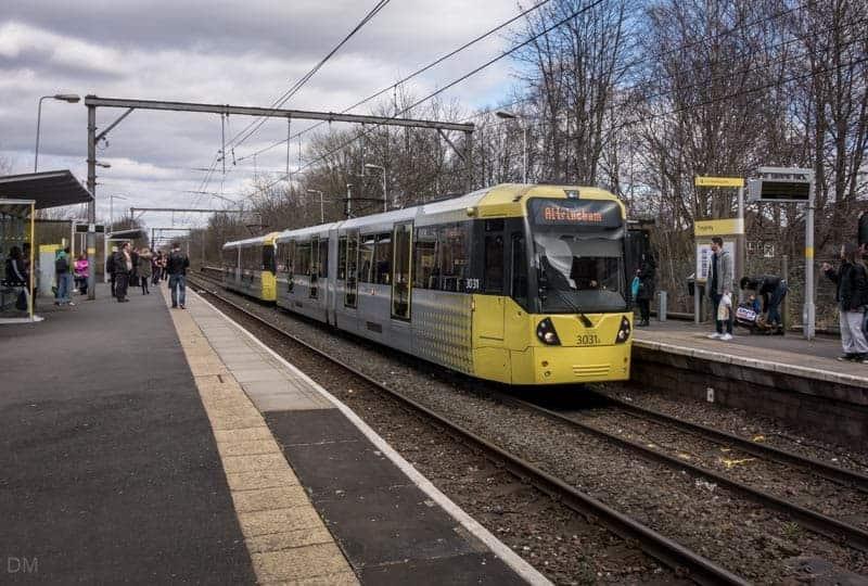 Tram at Timperley Metrolink Station