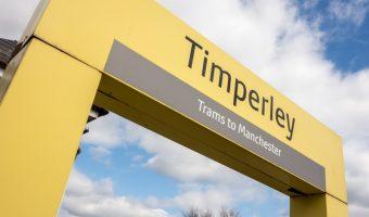 Timperley Metrolink Station sign