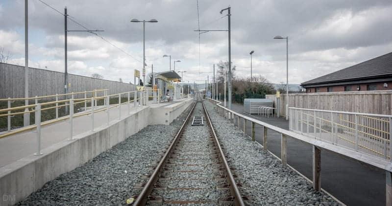 Platforms at Newbold Metrolink Station