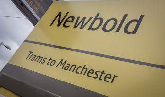 Sign for Newbold Metrolink Station