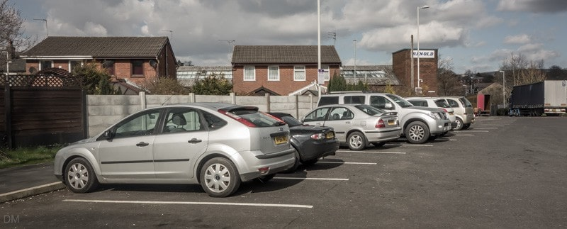Car park at Milnrow Metrolink Station