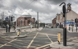 Rochdale Railway Station Metrolink viewed from Rochdale Train Station